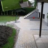 Wegeinfassung in Beton